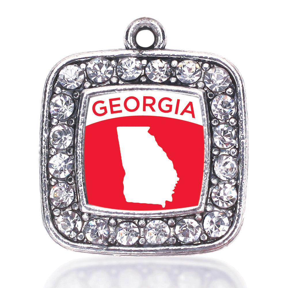 Georgia Outline Square Charm