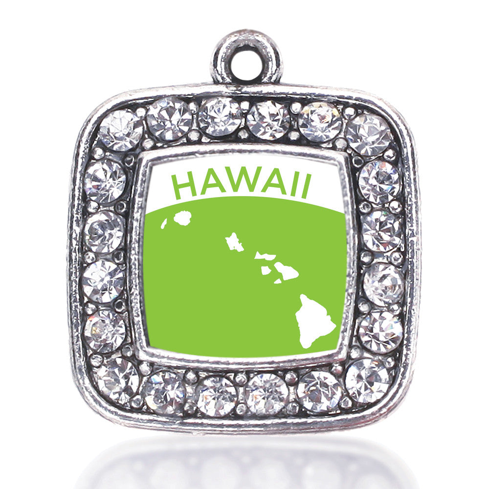 Hawaii Outline Square Charm