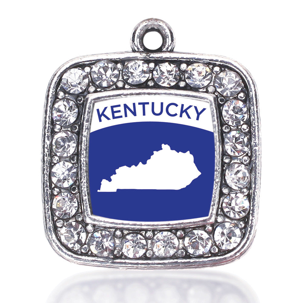 Kentucky Outline Square Charm