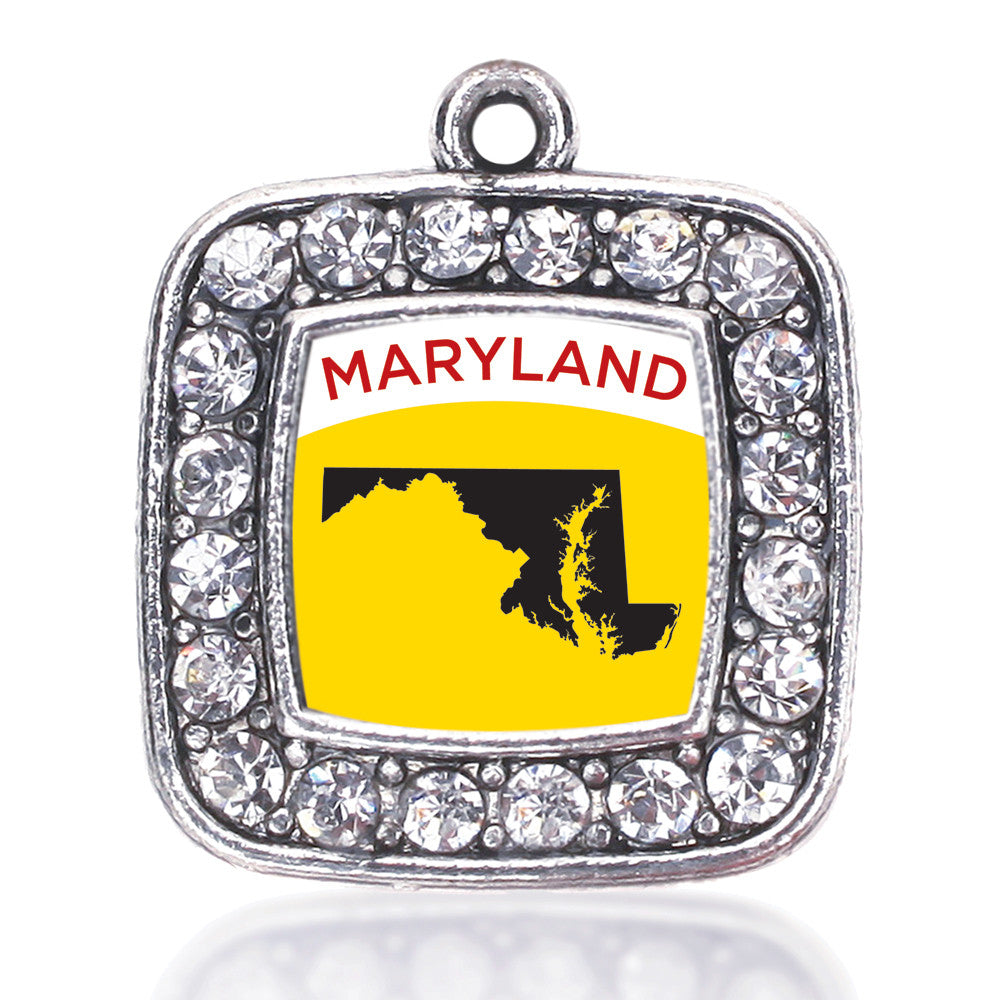 Maryland Outline Square Charm