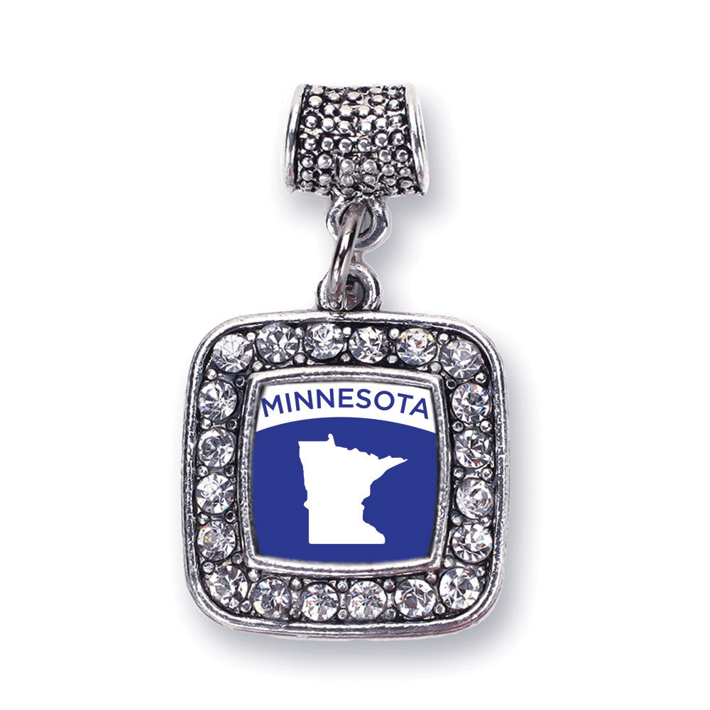 Minnesota Outline Square Charm