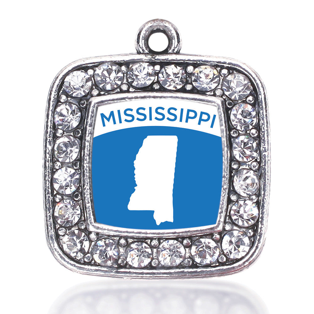 Mississippi Outline Square Charm