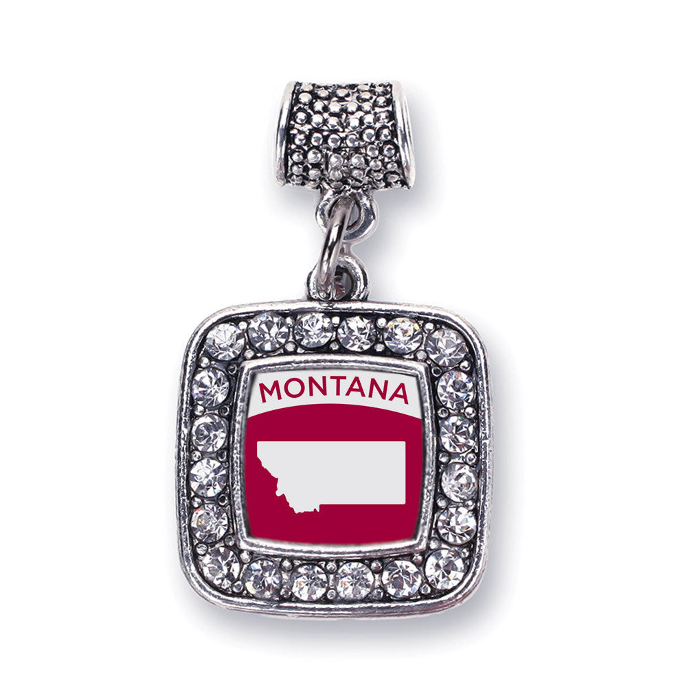 Montana Outline Square Charm