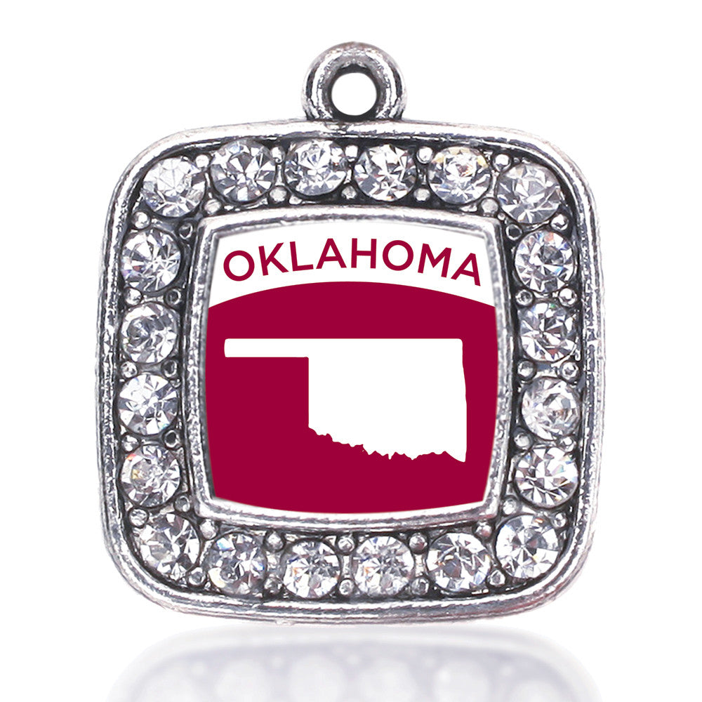 Oklahoma Outline Square Charm