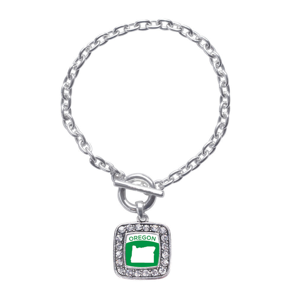 Oregon Outline Square Charm
