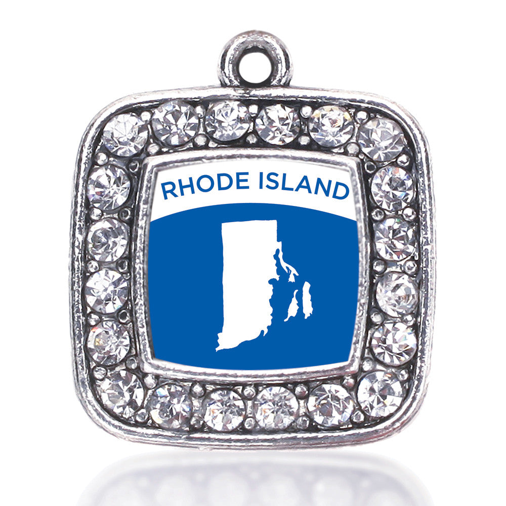 Rhode Island Outline Square Charm