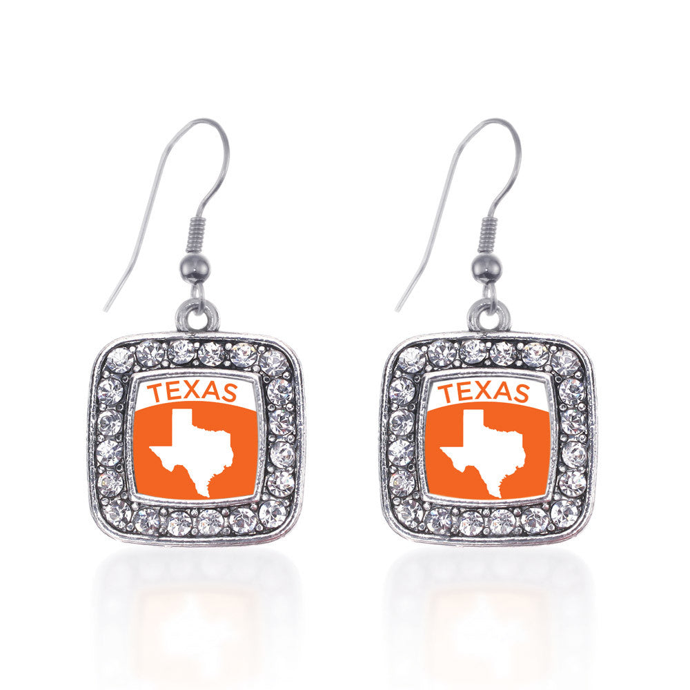 Texas Outline Square Charm