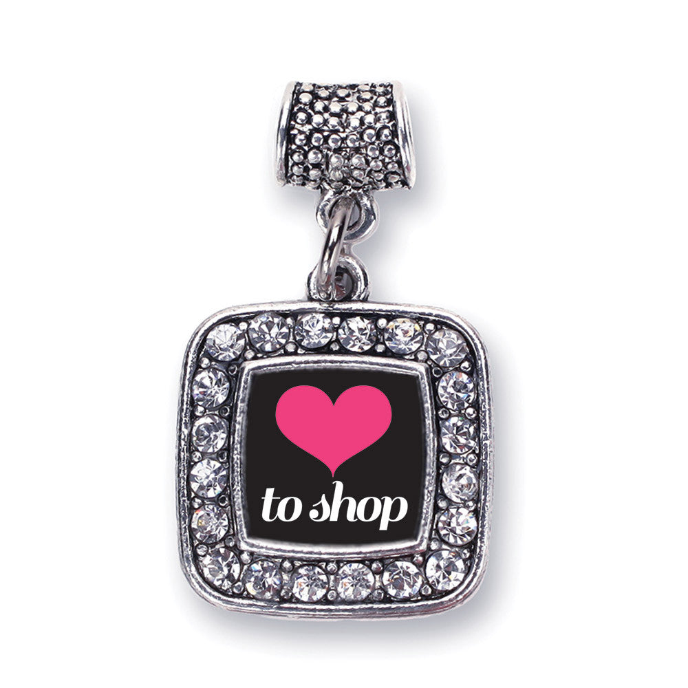 Love to Shop Square Charm