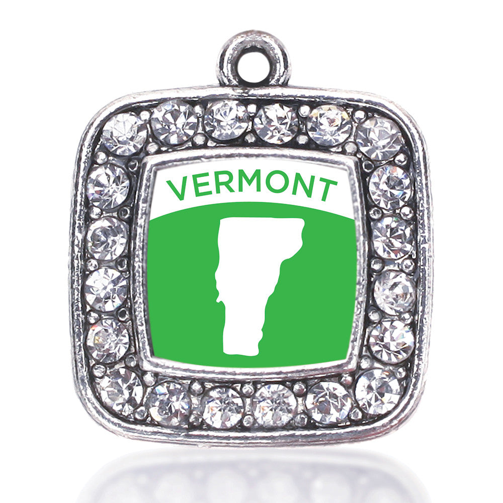 Vermont Outline Square Charm
