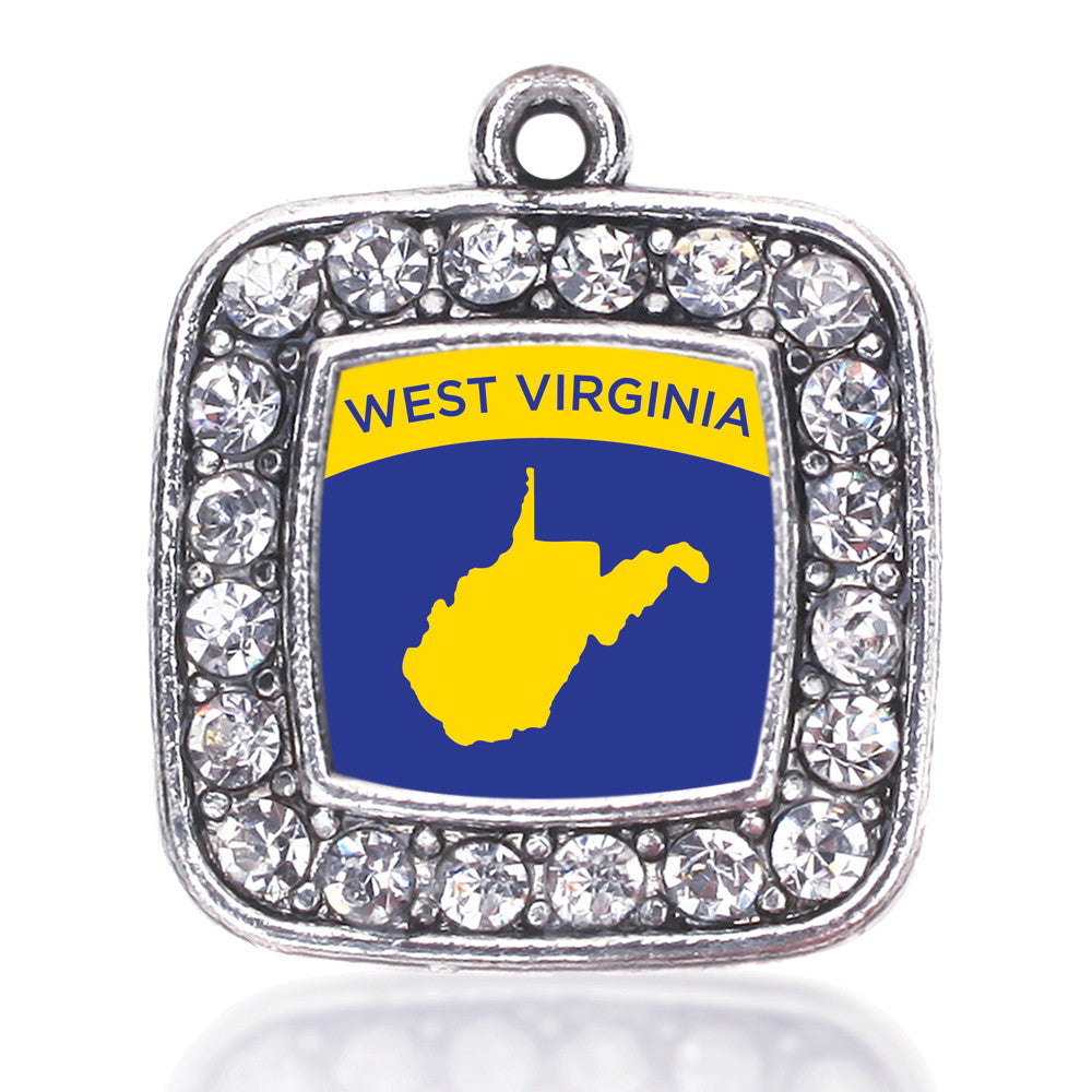 West VIrginia Outline Square Charm