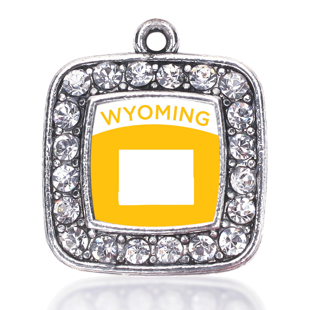 Wyoming Outline Square Charm