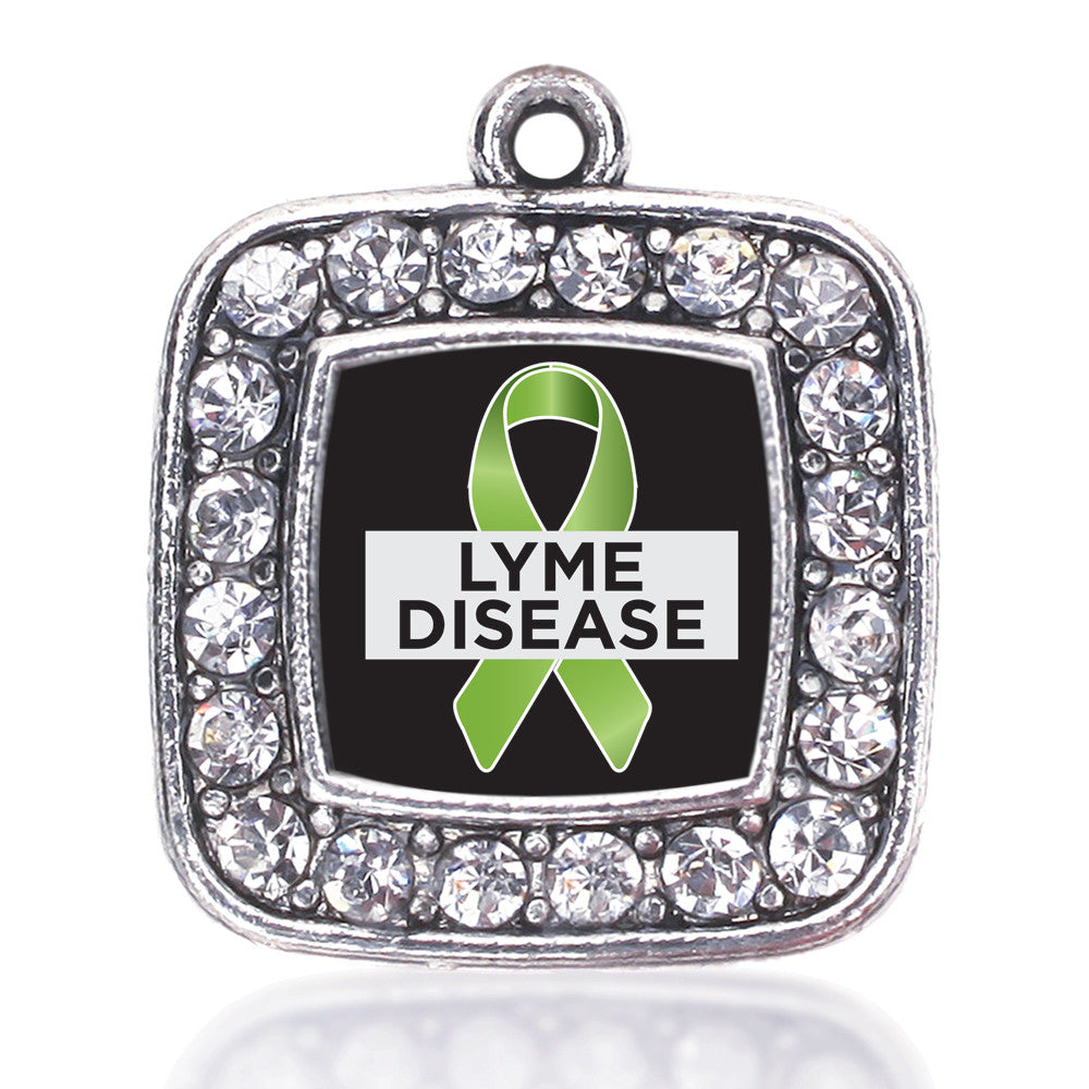 Lyme Disease Support and Awareness Square Charm