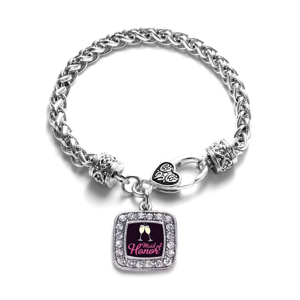 Maid Of Honor Square Charm