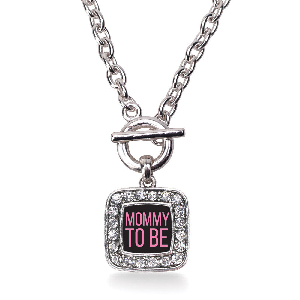 Mommy To Be Pink Square Charm