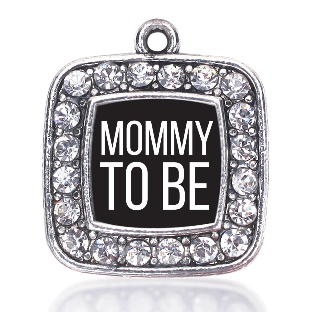 Mommy To Be White Square Charm
