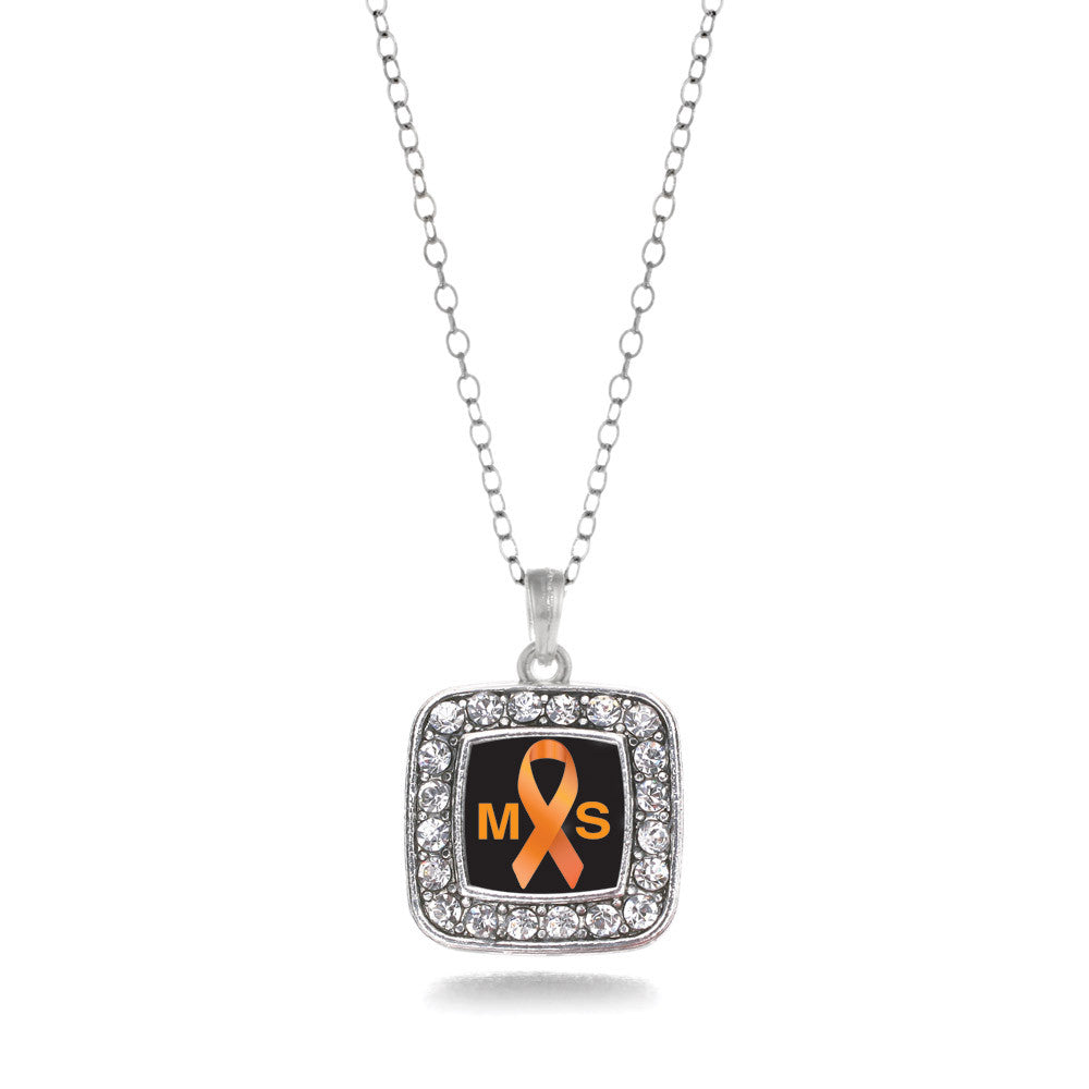 Multiple Sclerosis Awareness Square Charm