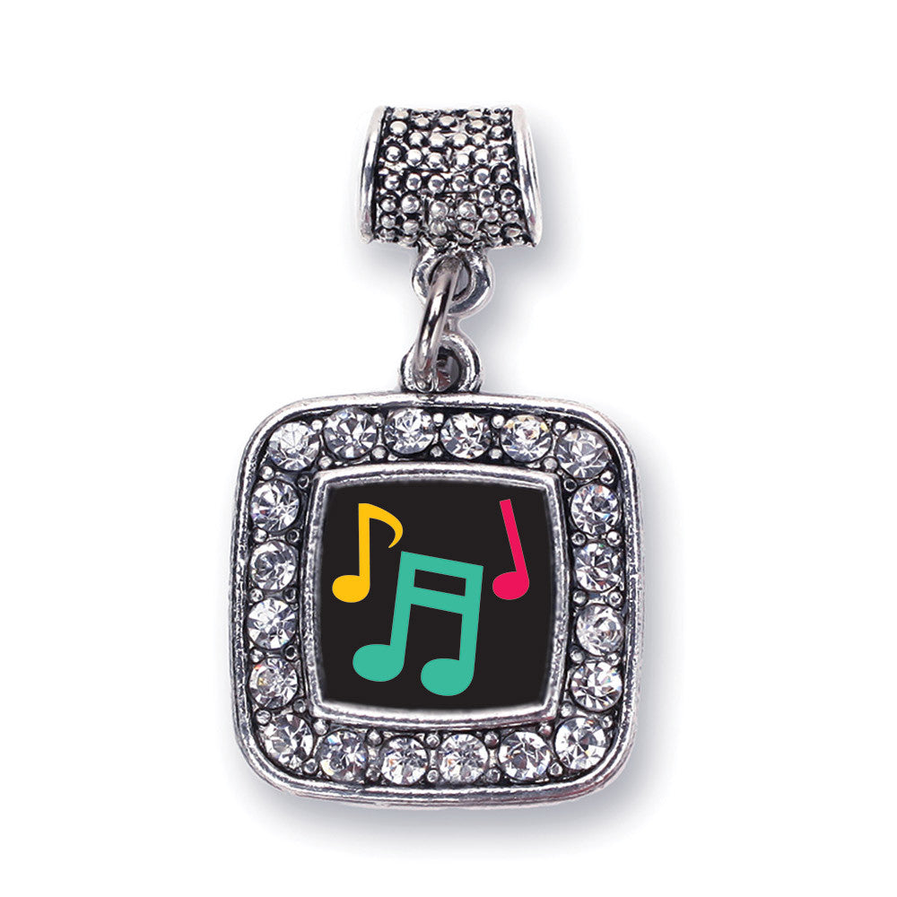 Musical Notes Square Charm