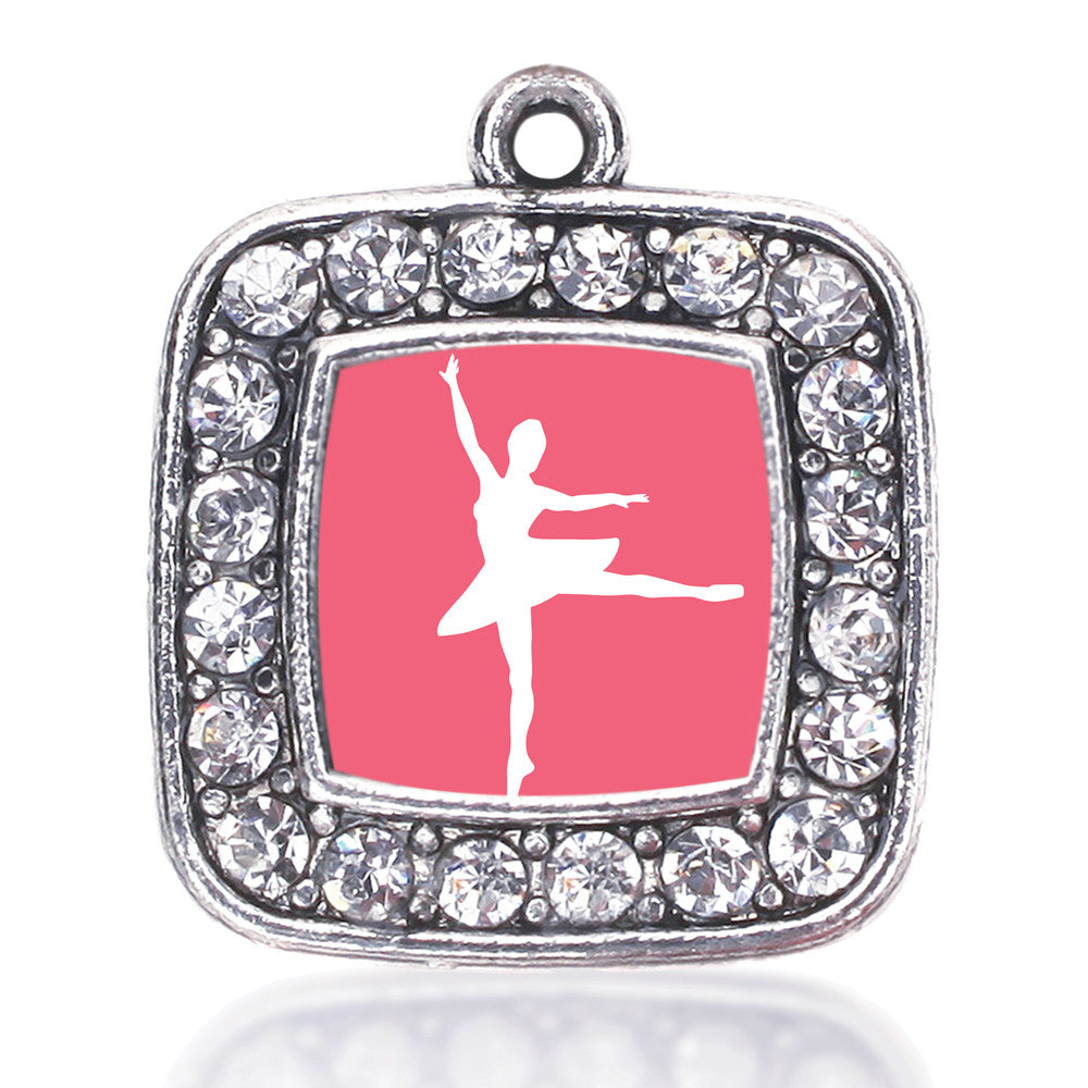 Ballerina Dancer Square Charm