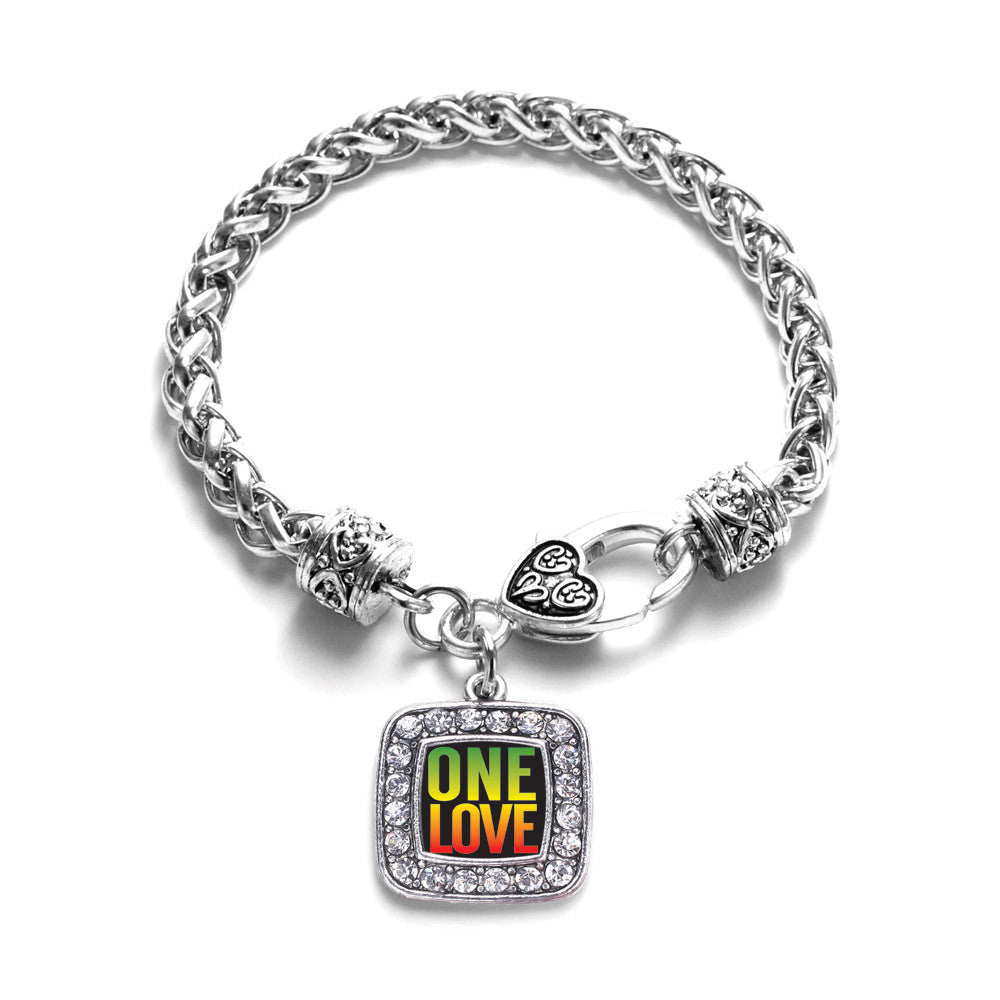 One Love Square Charm