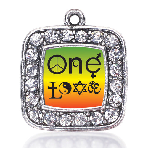 One Love Coexist Square Charm