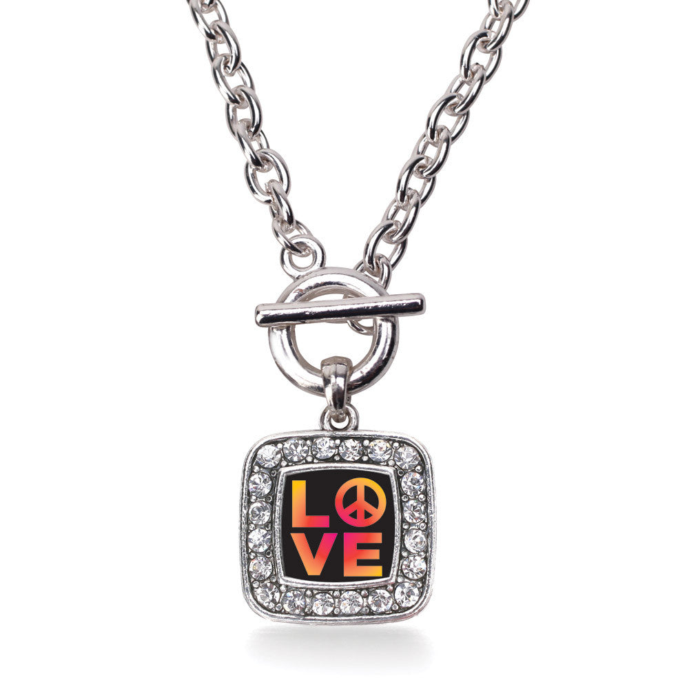 Peace And Love Square Charm