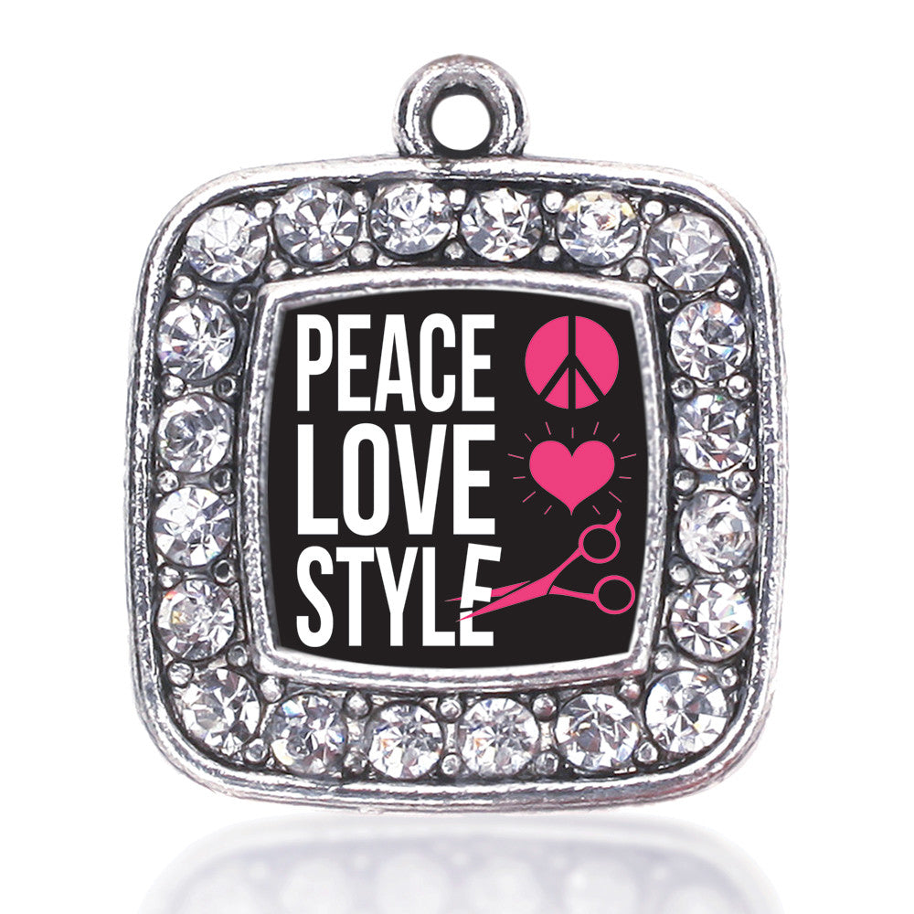 Peace, Love, And Style Square Charm