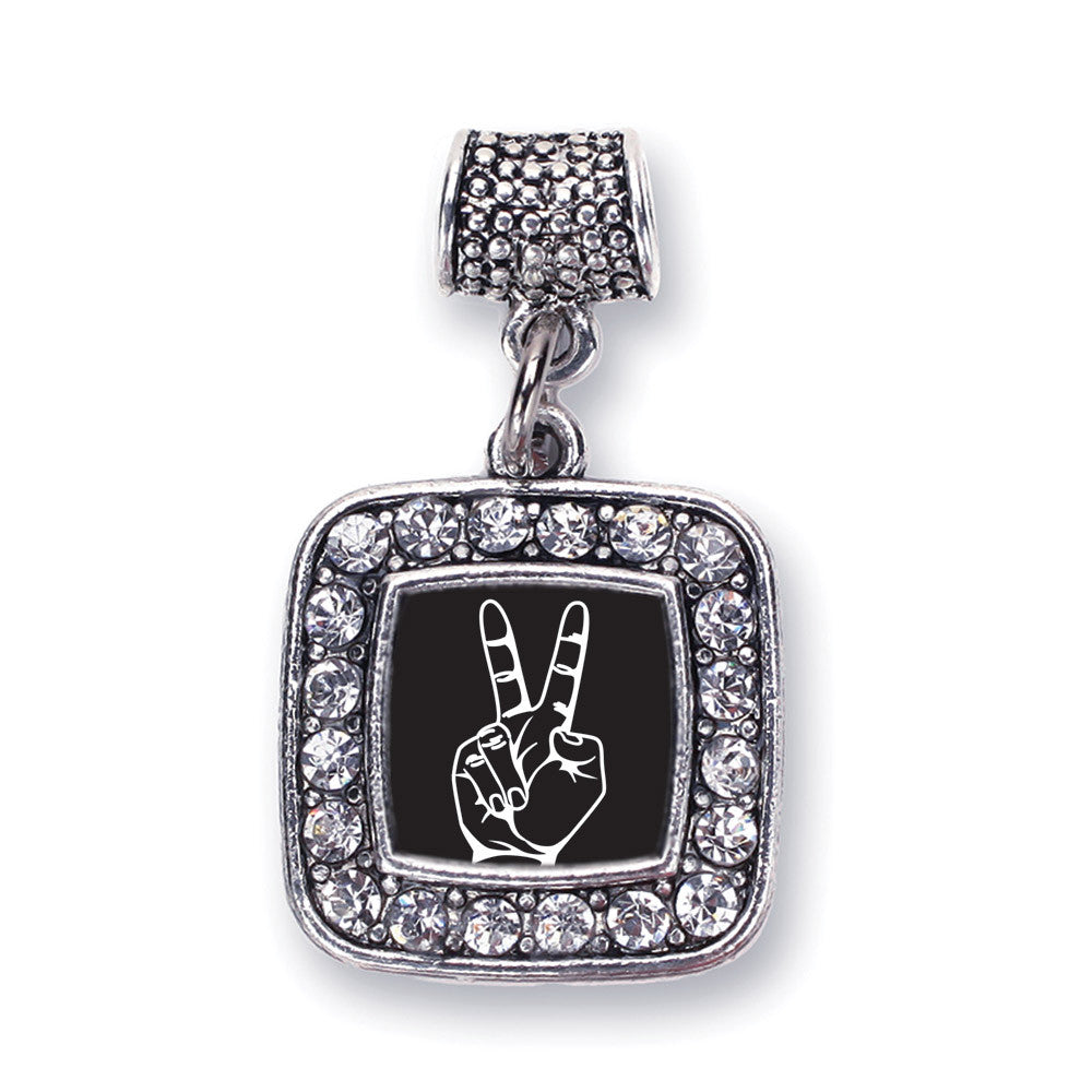 Peace Sign Language Interpreter Square Charm