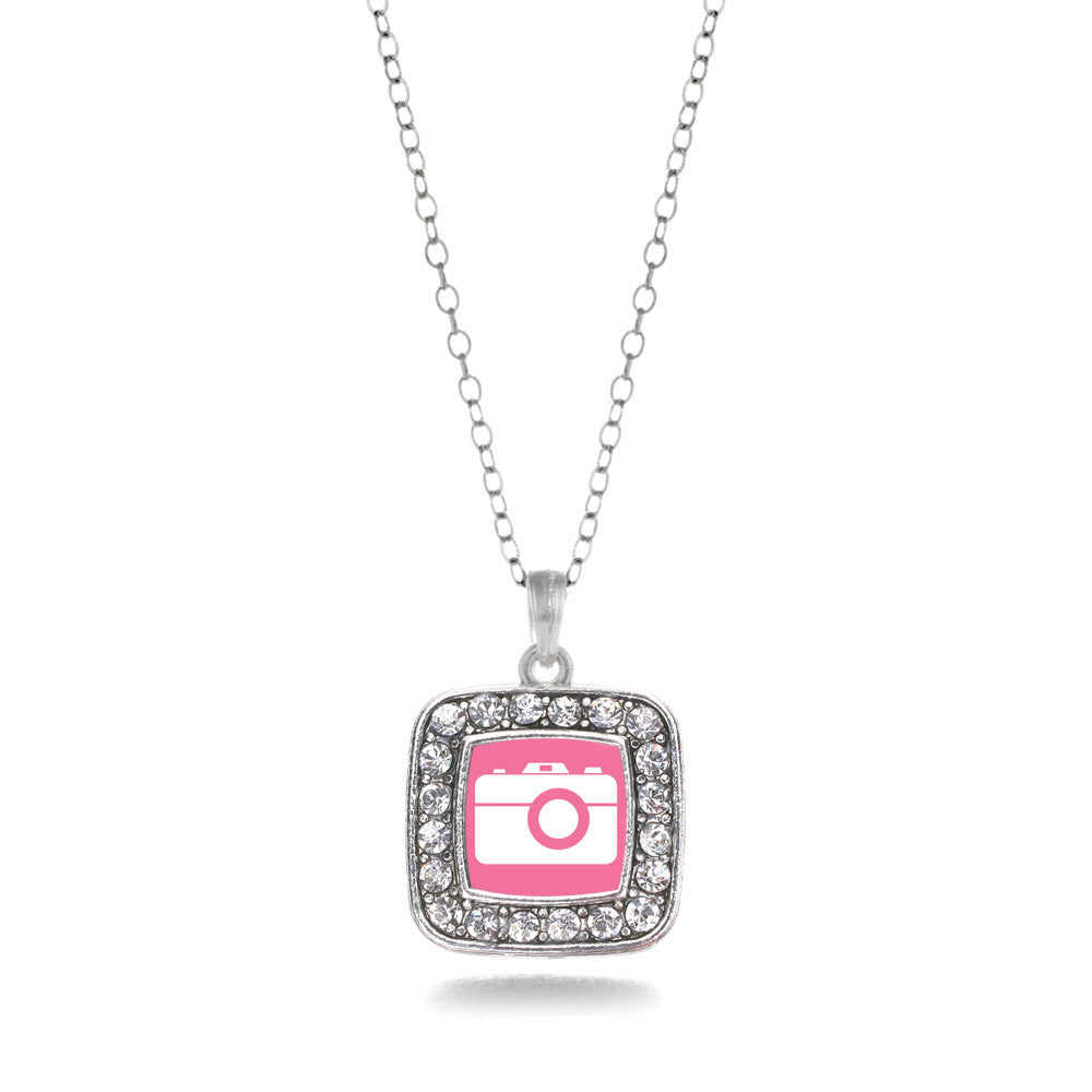 Pink Camera Square Charm