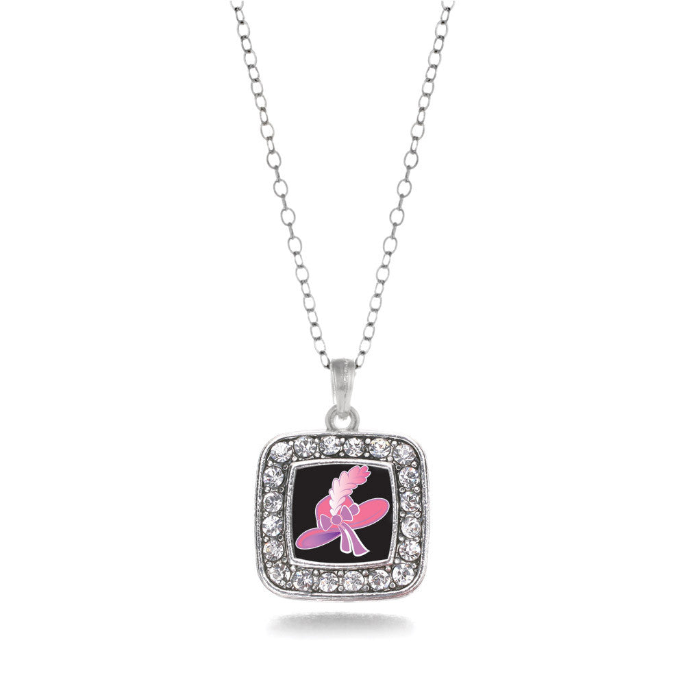 Pink Hat Square Charm