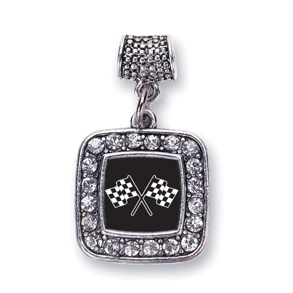 Racing Flags Square Charm