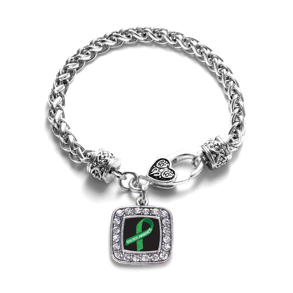 Scoliosis Awareness Square Charm