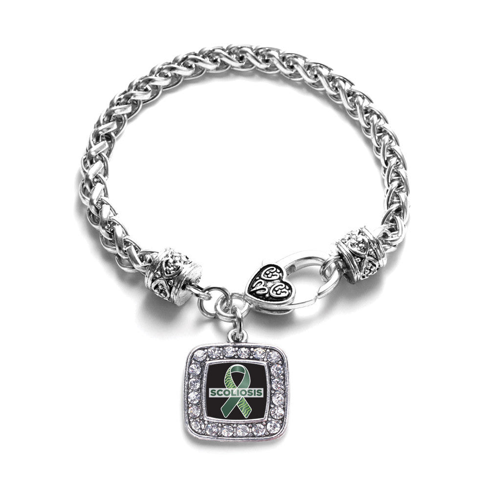 Scoliosis Support and Awareness Square Charm