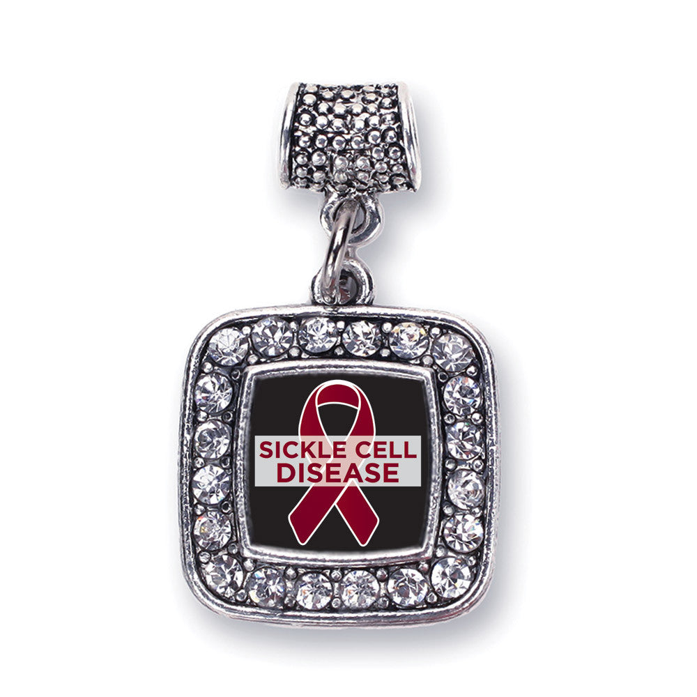 Sickle Cell Support Square Charm