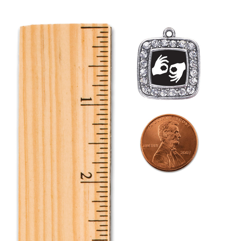 Sign Language Interpreter Square Charm
