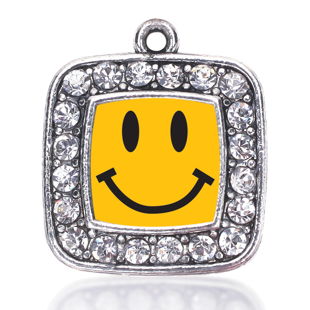 Smiley Face Square Charm