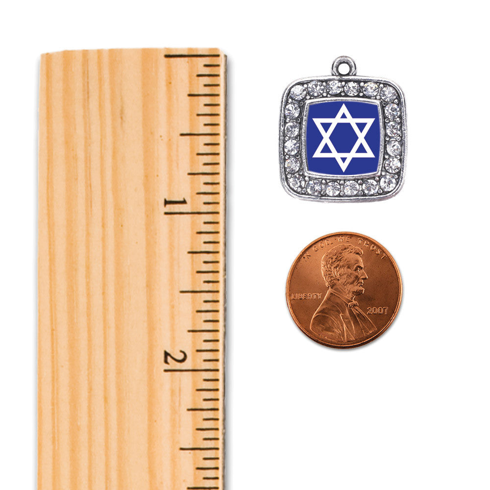 Star of David Square Charm