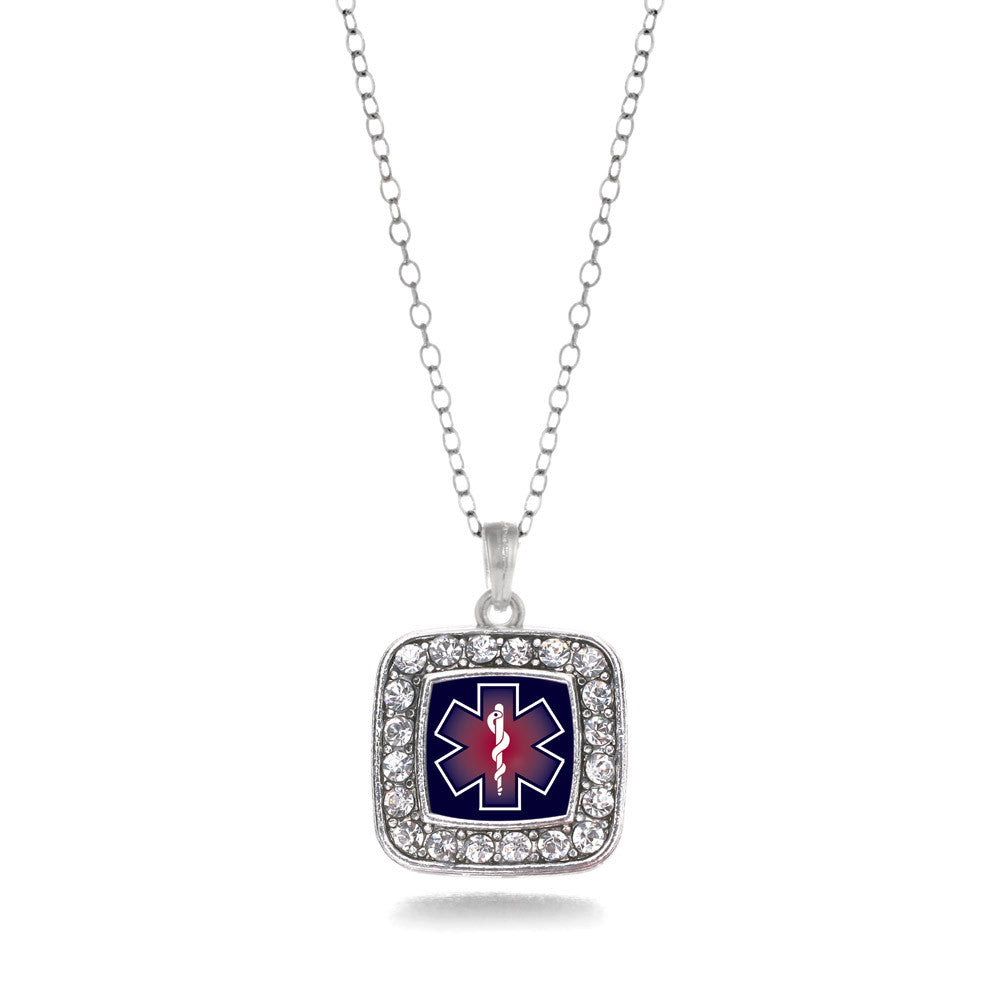 Star Of Life EMT / EMS Square Charm