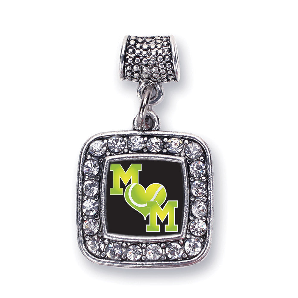 Tennis Mom Square Charm