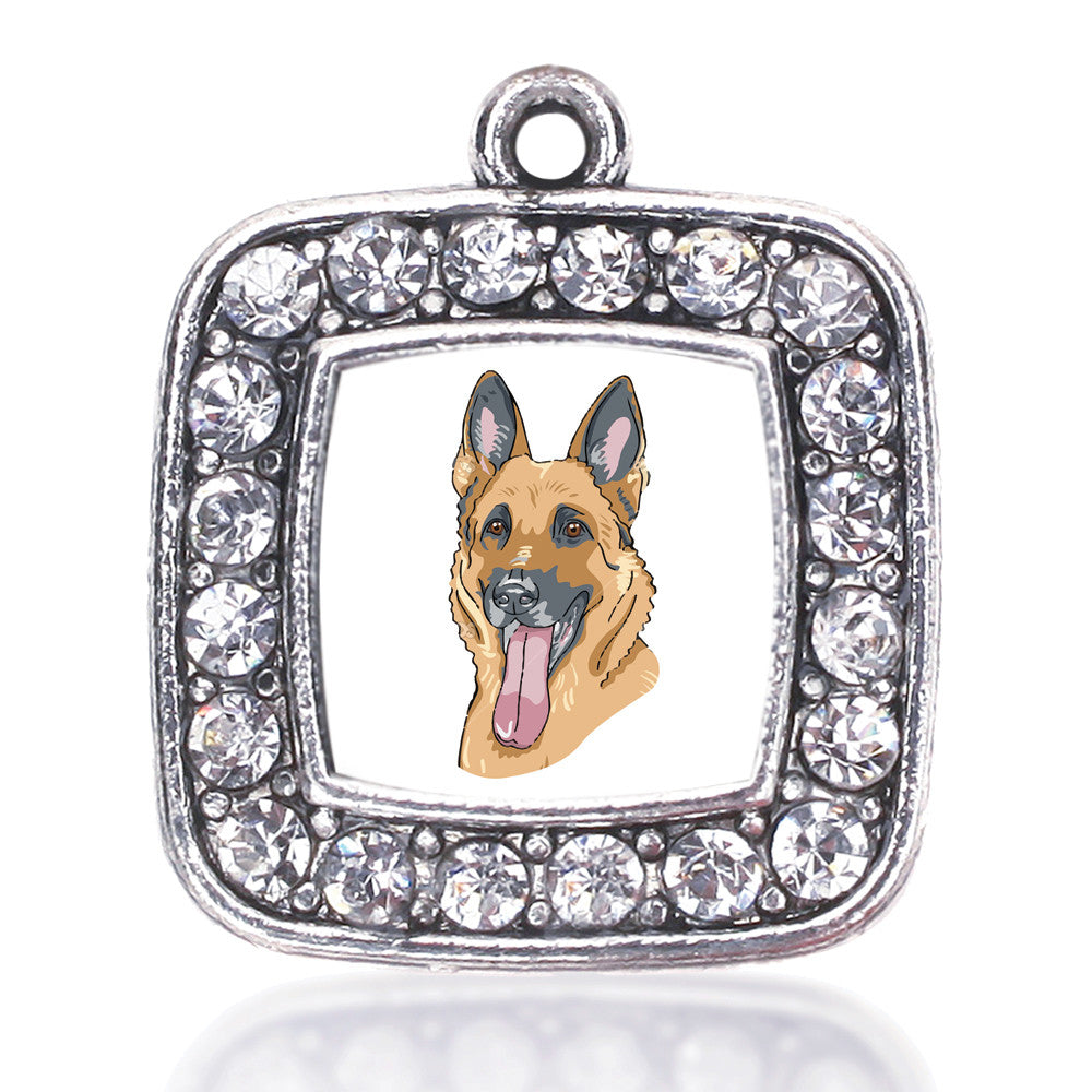 The German Shepherd Square Charm