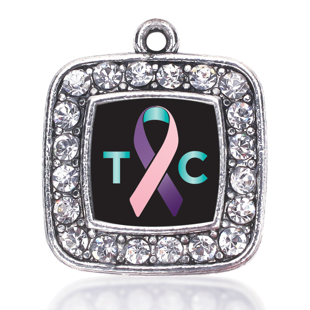 Thyroid Cancer Support Square Charm