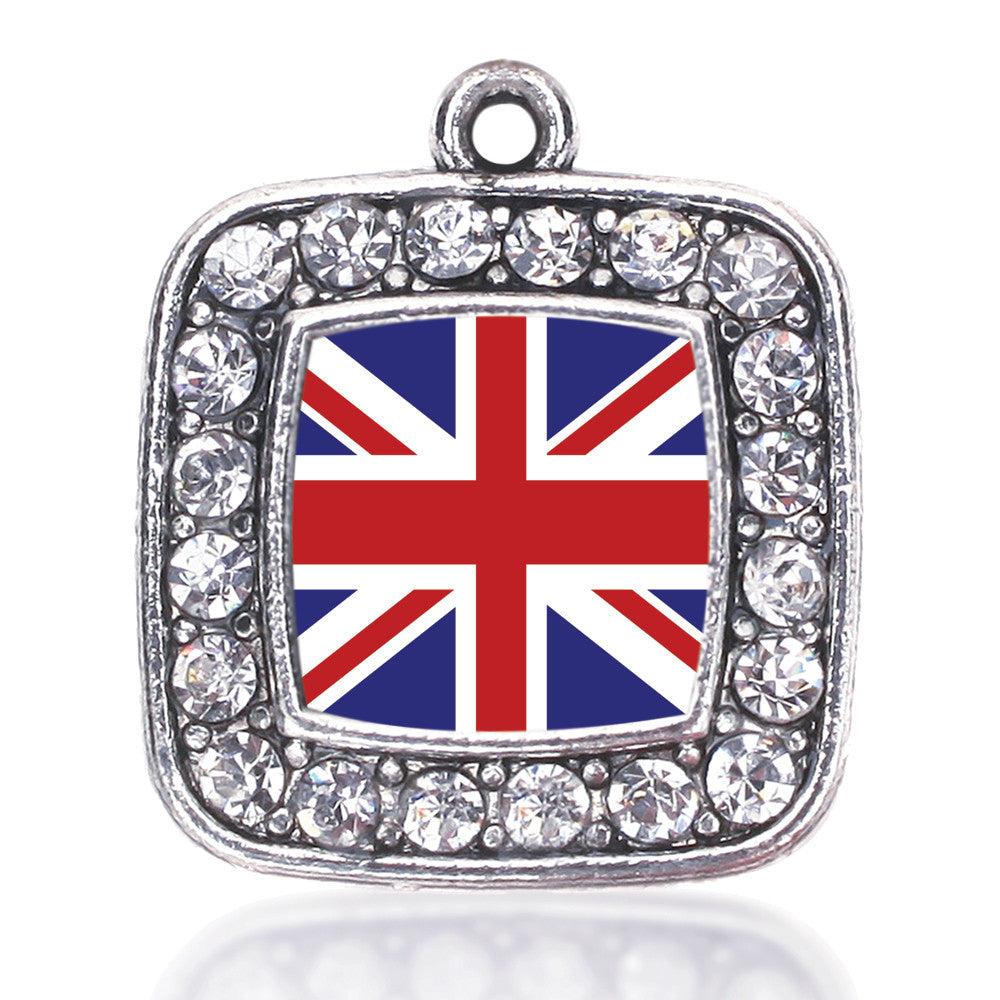 UK Flag Square Charm