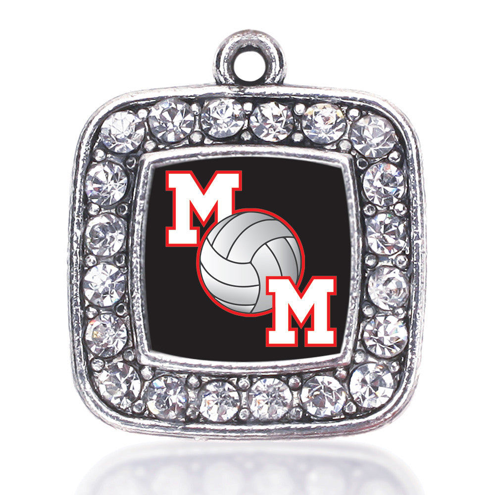 Volleyball Mom Square Charm