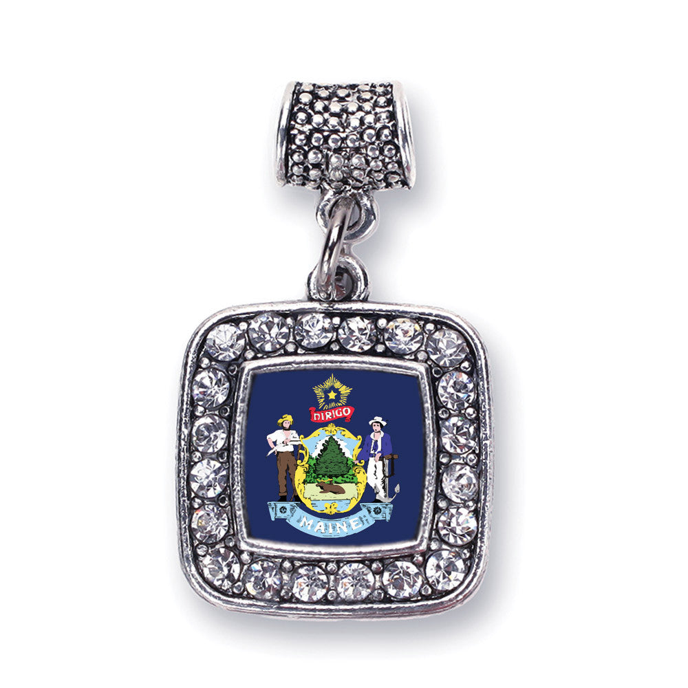 Maine Flag Square Charm