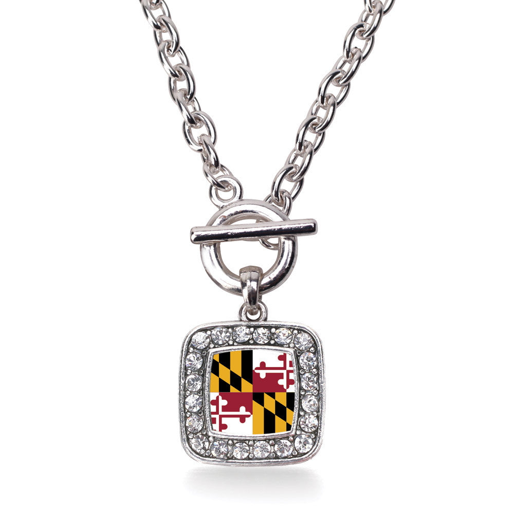 Maryland Flag Square Charm