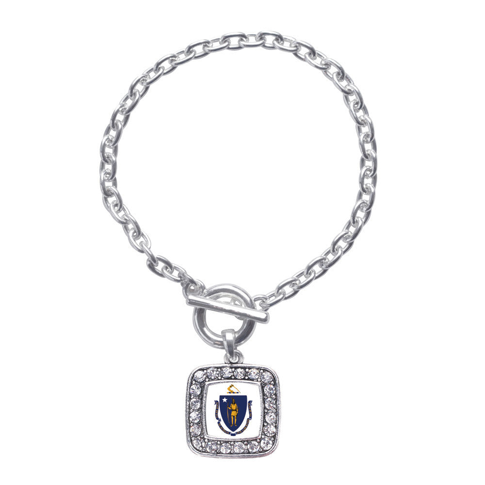 Massachusetts Flag Square Charm