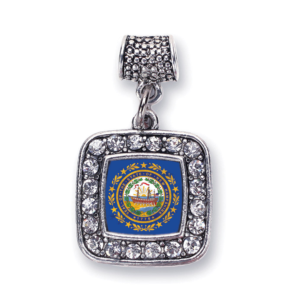 New Hampshire Flag Square Charm