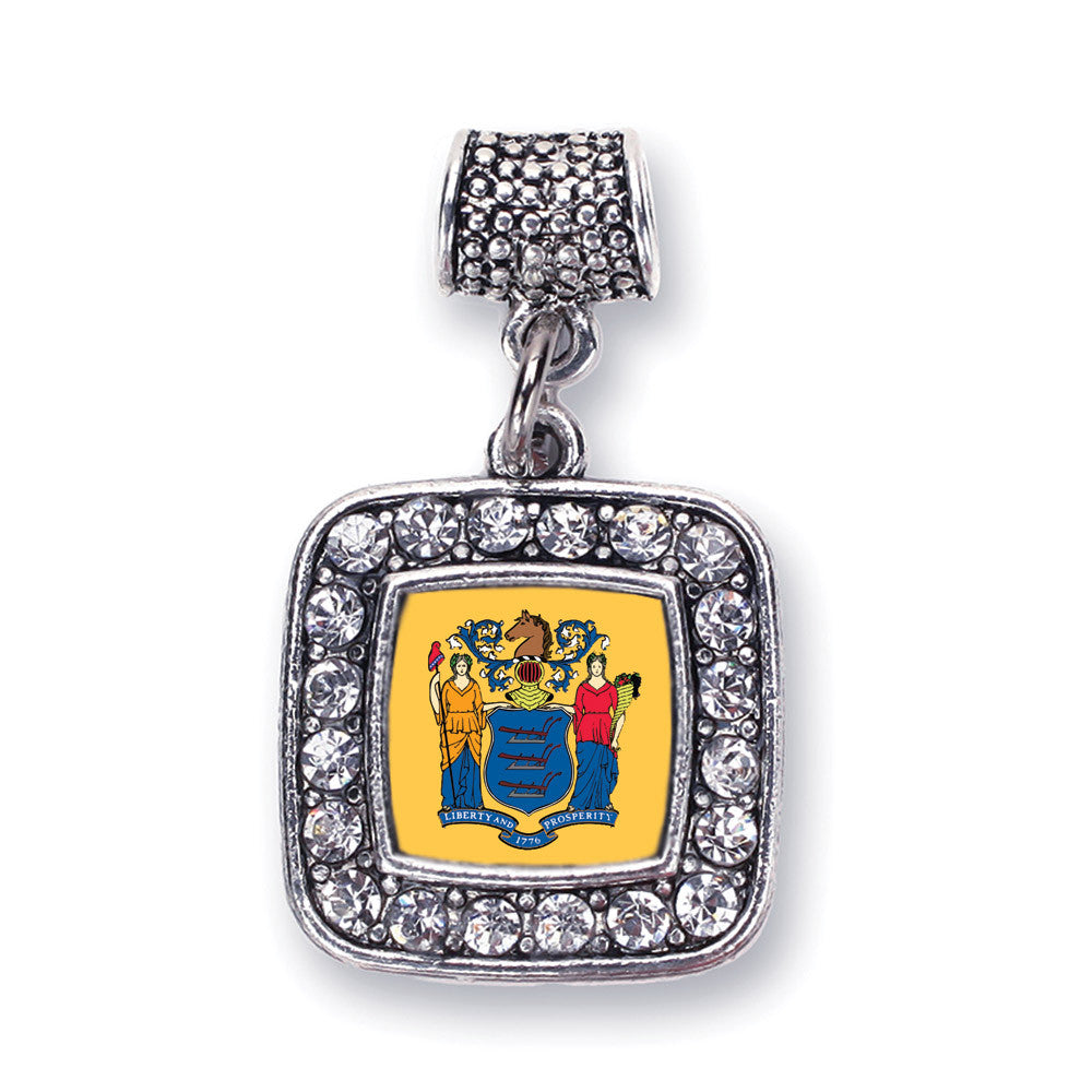 New Jersey Flag Square Charm