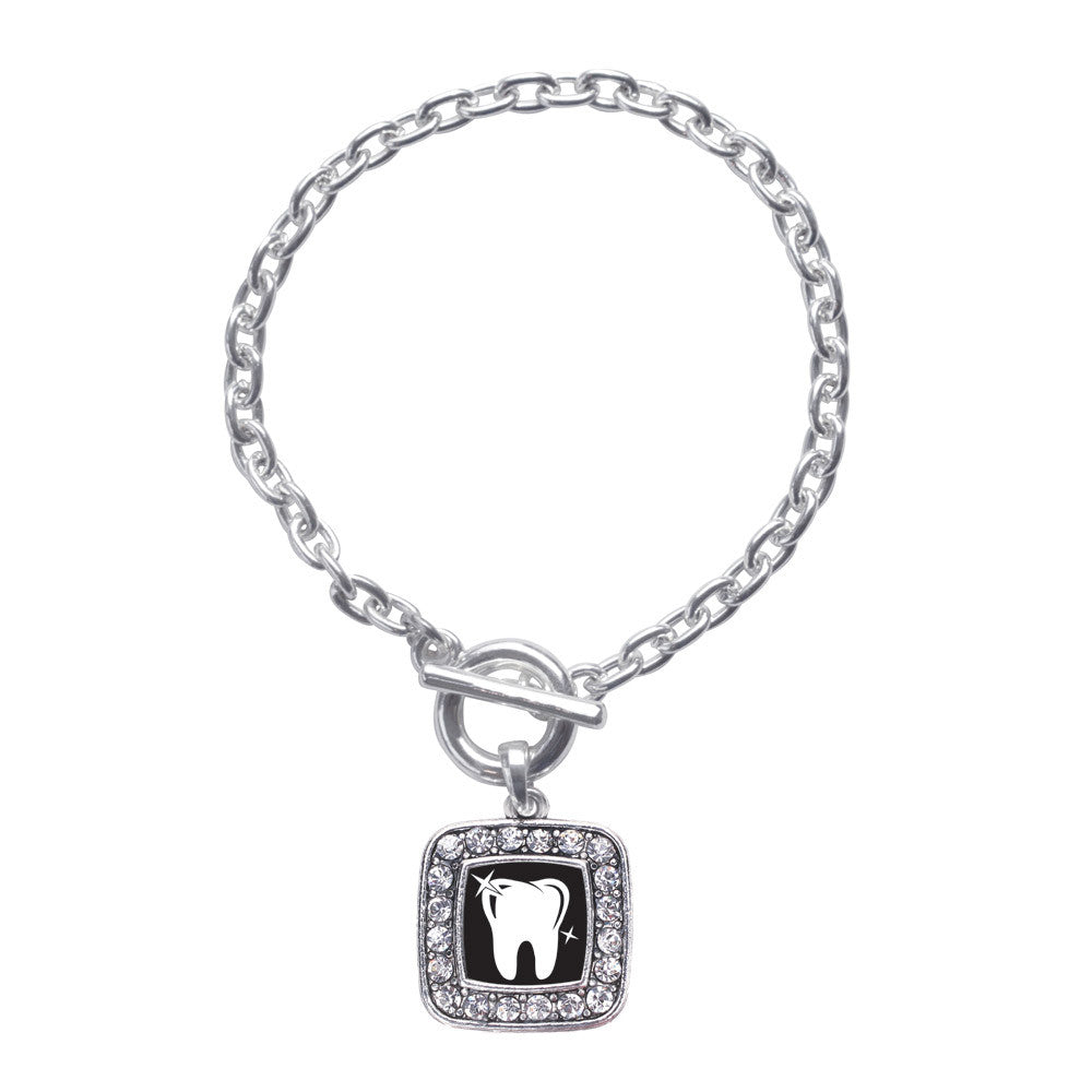 Shiny Tooth Square Charm