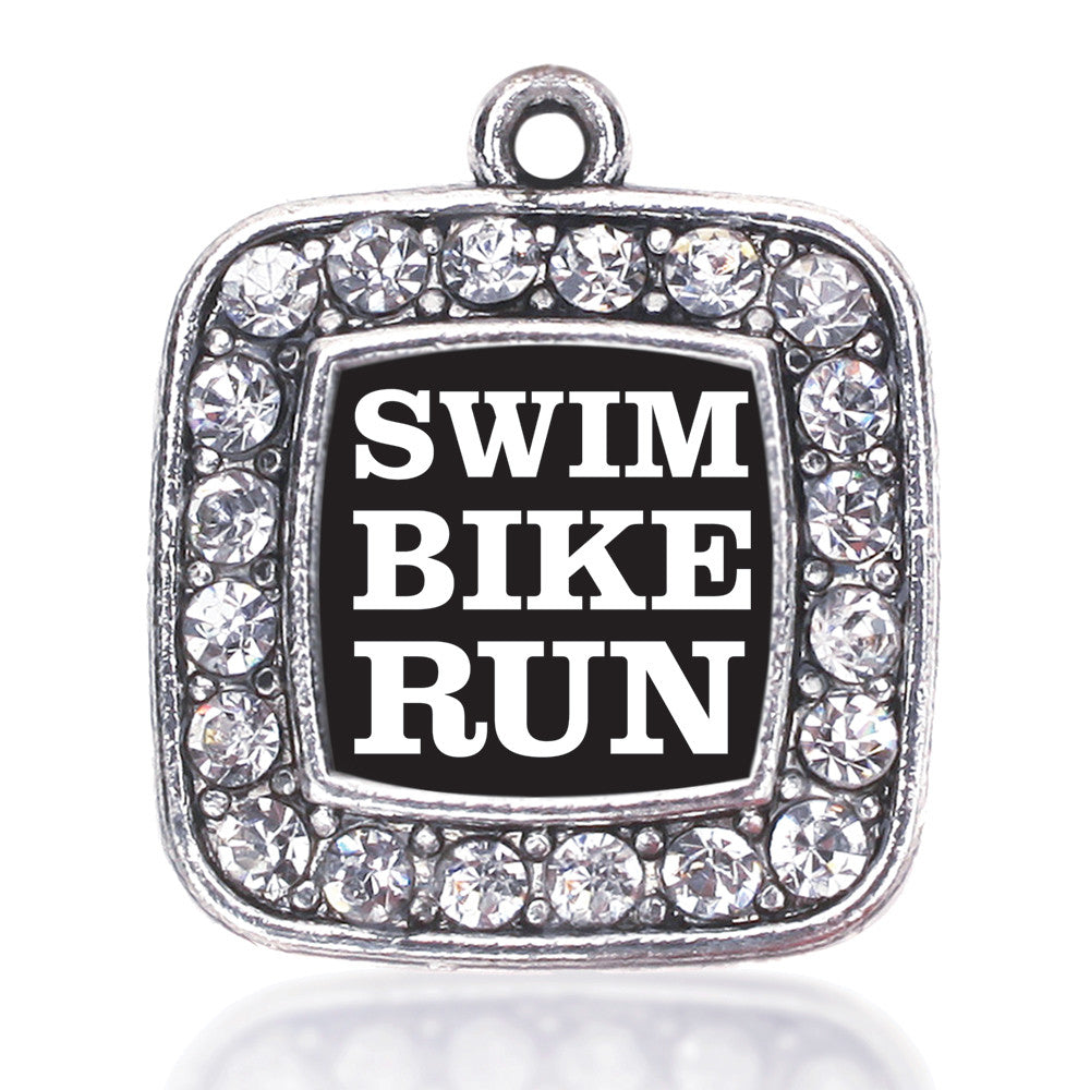 The Triathletes Square Charm