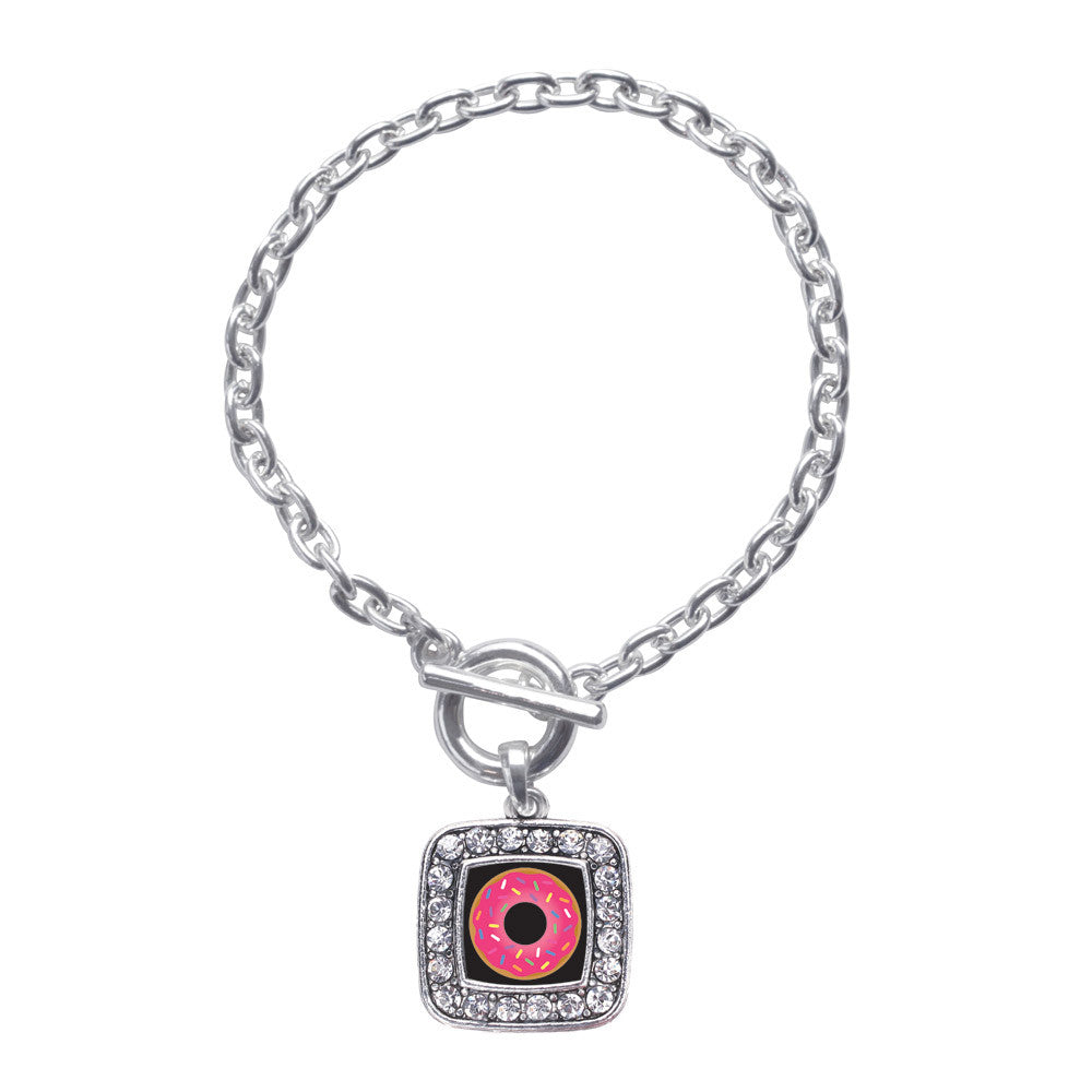 Sprinkled Donut Square Charm